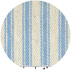 James Thompson, Ticking Woven Stripes, Sky Blue