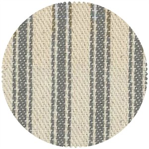 James Thompson, Ticking Woven Stripes, Steel Grey
