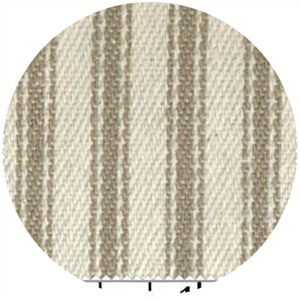 James Thompson, Ticking Woven Stripes, Taupe