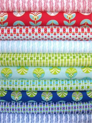 Jeni Baker, Color Me Retro, Complete Collection in FAT QUARTERS, 9 Total(LAST BUNDLE)