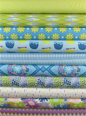 Jeni Baker, Dreamin' Vintage, Merry Berry in FAT QUARTERS 10 Total