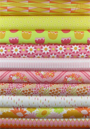 Jeni Baker, Dreamin' Vintage, Tickled Pink in FAT QUARTERS 10 Total