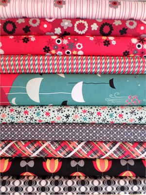 Jeni Baker, Nordika, Frost Valley in FAT QUARTERS 9 Total