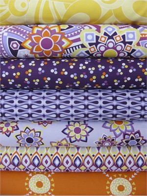 Jenean Morrison, Beachwood Park, Purple in Fat Quarters, 7 Total