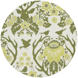 Joel Dewberry, Birch Farm, SATEEN, Antler Damask Sage