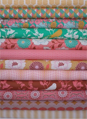 Joel Dewberry, Bungalow, Afternoon 12 FAT QUARTERS in Total