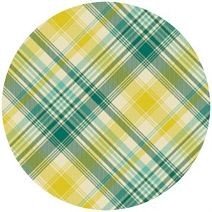Joel Dewberry, Notting Hill, SATEEN, Tartan Aquamarine