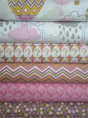 Josephine Kimberling, Blown Away, Pink in FAT QUARTERS 5 Total (PRE-CUT)
