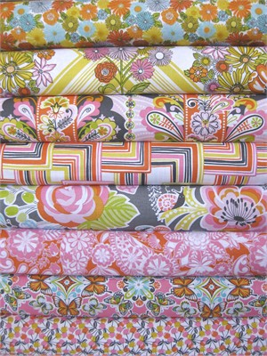Josephine Kimberling, Field Day, Pink in FAT QUARTERS 7 Total