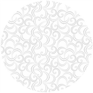 Josephine Kimberling, Hip Holiday, Dotted Swirl (Silver Metallic)