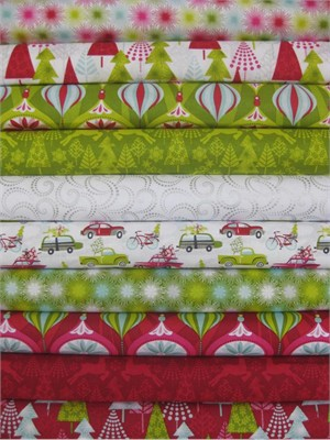 Josephine Kimberling, Hip Holiday, Entire Collection in Fat Quarters, 10 Total