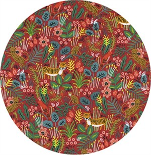 AVAILABLE FOR PREORDER, Rifle Paper Co. for Cotton and Steel, Menagerie, Jungle Red