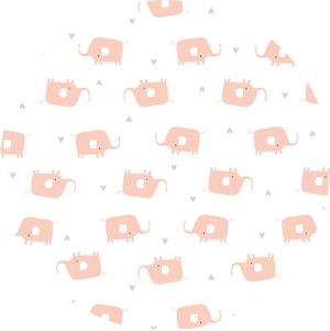 Little Cube for Cloud9, Tout Petit, KNIT, Little Elephants White