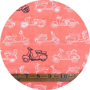 Jay-Cyn Designs for Birch Organic Fabrics, Trans-Pacific, KNIT, Mopeds Coral