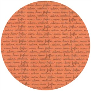 Kate and Birdie Paper Co., Autumn Woods, Handwriting Persimmon