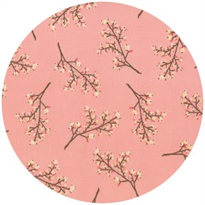 Kate and Birdie Paper Co., Storybook, FLANNEL, Blossoms Peach