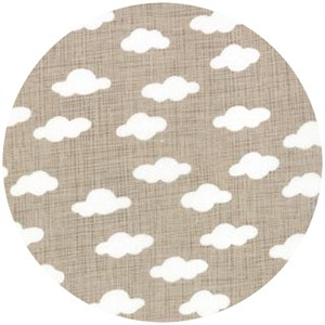 Kate and Birdie Paper Co., Storybook, FLANNEL, Clouds Stone