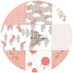 Kate and Birdie Paper Co., Storybook, FLANNEL, Patchwork Peach
