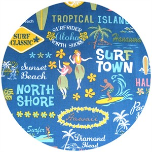 Kawaii from Hawaii, Surf Town Dark Blue
