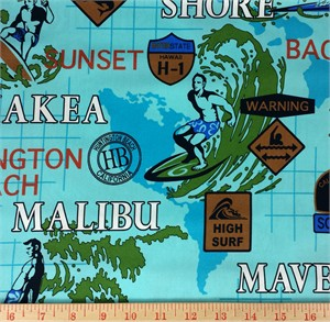 Kawaii from Hawaii, Surf Town, Surfin' USA Aqua