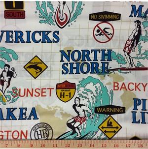 Kawaii from Hawaii, Surf Town, Surfin' USA Light Khaki