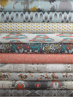 Katarina Roccella for Art Gallery, Indelible, Silver in FAT QUARTERS 9 Total