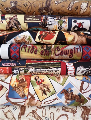 Kate Ward Thacker for Robert Kaufman, The Old West in FAT QUARTERS 7 Total