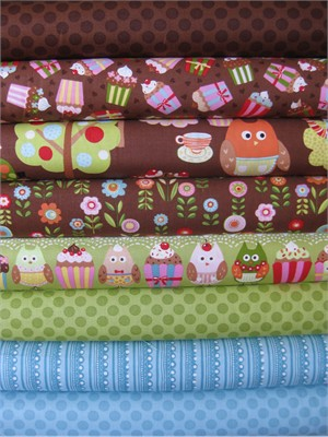 Keiki, Cherry On Top, Chocolate in FAT QUARTERS 8 Total
