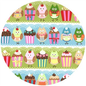 Keiki, Cherry On Top, Owls & Cupcakes Blueberry/Pistachio