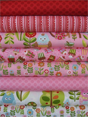 Keiki, Cherry On Top, Strawberry in FAT QUARTERS 8 Total