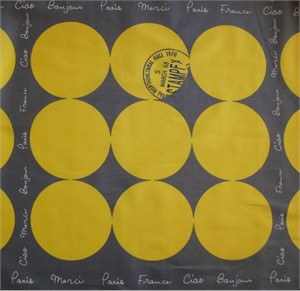 Kei Japan, Paris Dots Yellow  (1 Yard Panel)