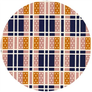 Kimberly Kight for Cotton and Steel, Lucky Strikes, Domino Plaid Pink