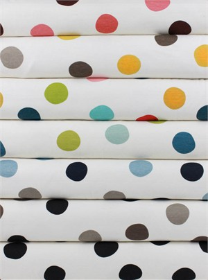Birch Organic Fabrics, Mod Basics 3, KNIT, Pop Dots 6 Total
