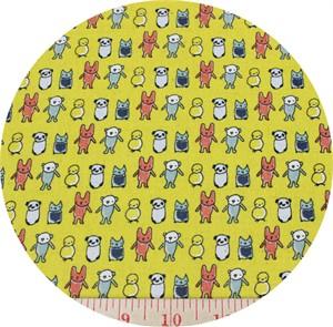 Kokka, CANVAS,The Tinies , Tiny Friends Mustard