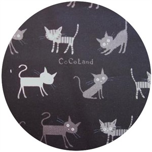 Kokka Japan, Cocoland Cats, Cat Stroll Black