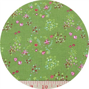 Kokka, The Tinies , SHEETING, Floral Green