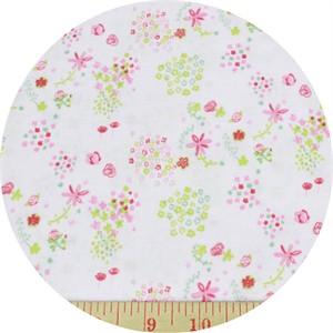 Kokka, The Tinies , SHEETING, Floral Pink