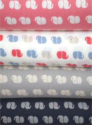 Kobayashi, Elephant Silhouettes in FAT QUARTERS 4 Total