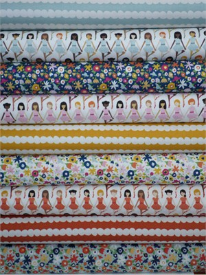 Kokka Japan, Ballerinas in FAT QUARTERS 9 Total