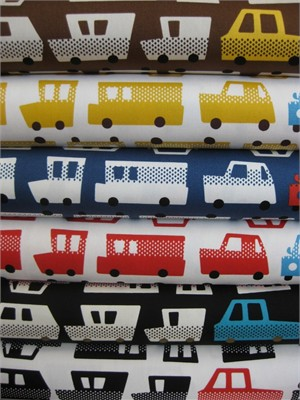 Kokka Japan, Beep Beep in FAT QUARTERS, 6 Total (Last Bundle)