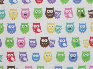 Kokka Japan, Bitty Owls Cream