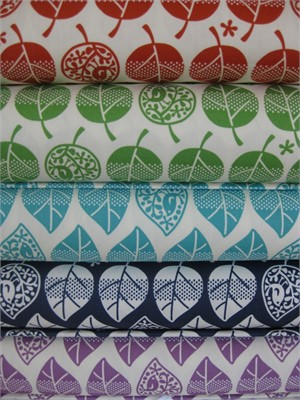 Kokka Japan, Birdie Trees in FAT QUARTERS, 5 Total (Pre-cut)