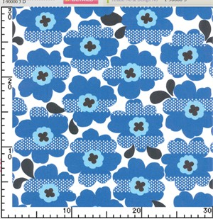 Kokka Japan, Bold Flower Blue