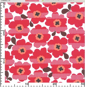Kokka Japan, Bold Flower Red
