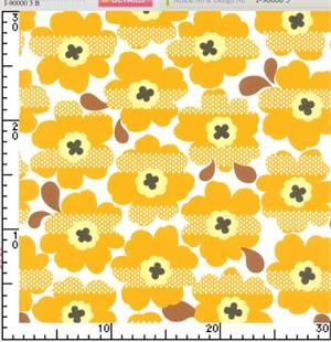 Kokka Japan, Bold Flower Tangerine