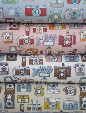 Kokka Japan, CANVAS, Snapshot Cameras 4 FAT QUARTERS in Total