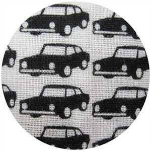 Kokka Japan, DOUBLE GAUZE, Trefle Cars Black