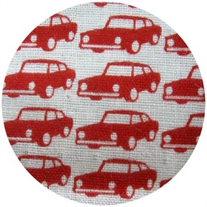 Kokka Japan, DOUBLE GAUZE, Trefle Cars Red