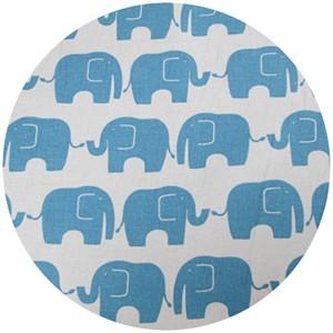 Kokka Japan, FLANNEL, Elephants Blue