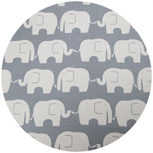 Kokka Japan, FLANNEL, Elephants Grey
